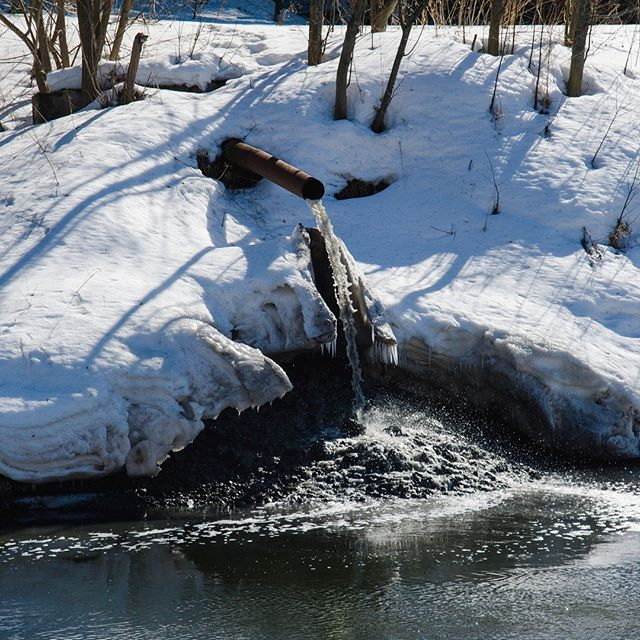 Сток в реку